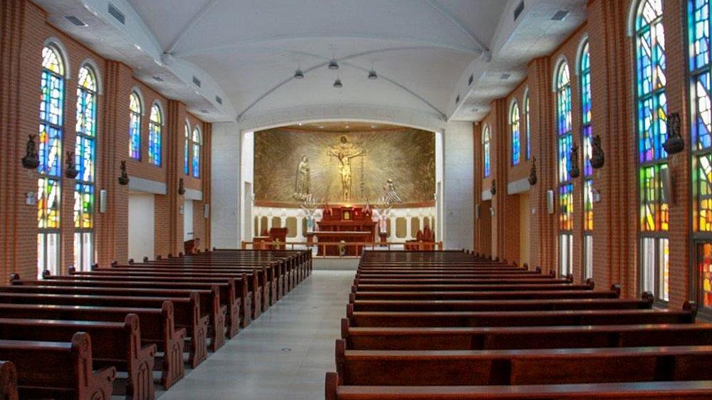 Fatima-Friedenskirche in Korea von innen